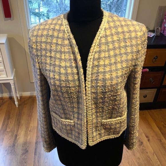 5c4f5221b Chanel Boucle Tweed Jacket Spring Pastel size 40